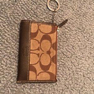 Coach keychain/money & CC holder